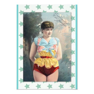 Woman in Old Fashioned Costume Illustration Card