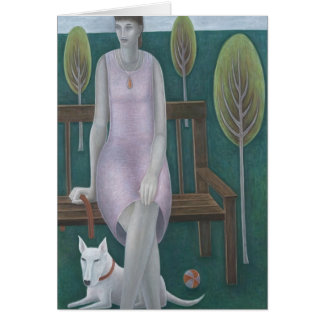 Woman in Park 2006 Greeting Card