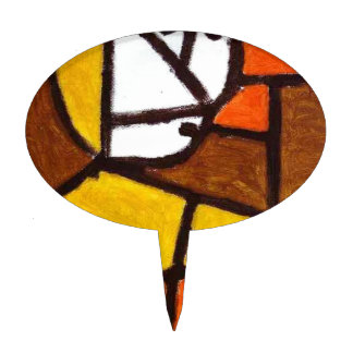 Woman in Peasant Dress by Paul Klee Cake Topper
