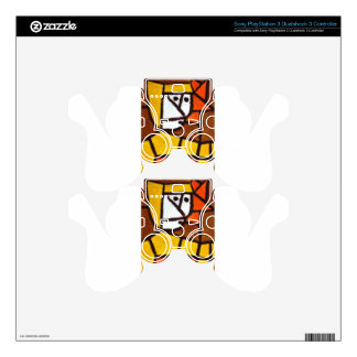 Woman in Peasant Dress by Paul Klee PS3 Controller Decals
