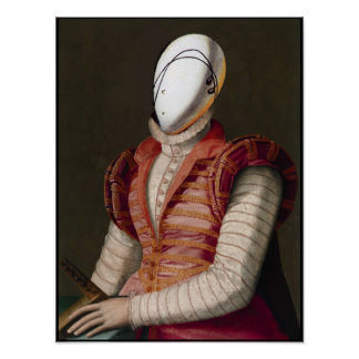 WOMAN IN PINK DRESS Fashion Theatrical Costume Print