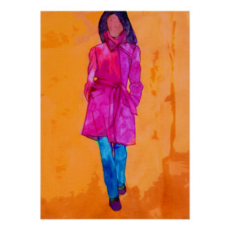 Woman in Pink Poster