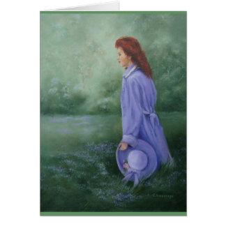 Woman In Purple - note Card