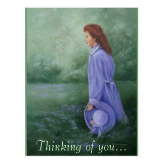 Woman In Purple' -  Postcard