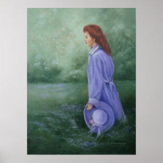 'Woman In Purple' print poster