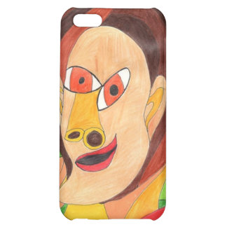 Woman In Red and Yellow Case For iPhone 5C