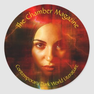 Woman in Red Classic Round Sticker
