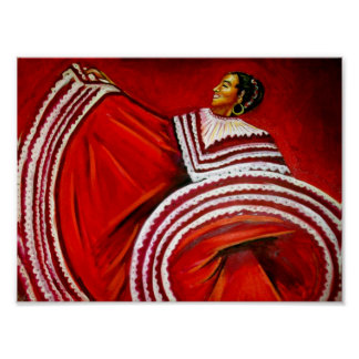 Woman in Red Dress Poster
