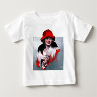 Woman in Red Hat Baby T-Shirt