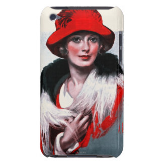 Woman in Red Hat iPod Case-Mate Case