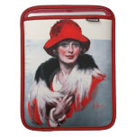 Woman in Red Hat Sleeves For iPads