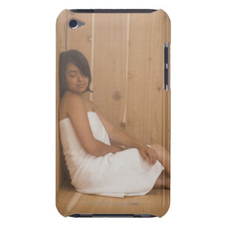 Woman in Sauna iPod Touch Cover