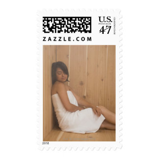 Woman in Sauna Postage