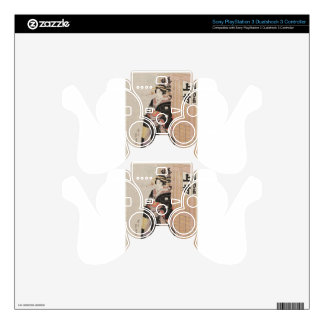 Woman in Snow by Keisai Eisen PS3 Controller Decals