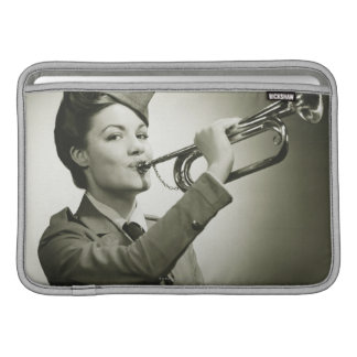 Woman in Soldier Uniform Sleeve For MacBook Air