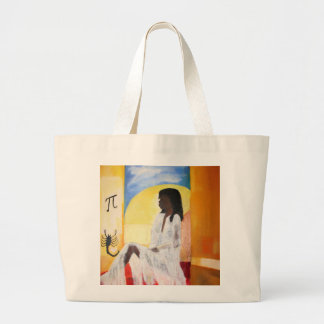 Woman in Solitude Large Tote Bag