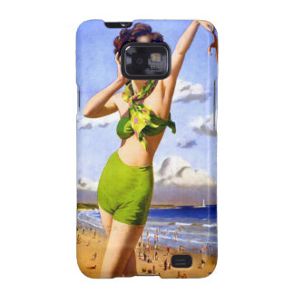 Woman in Swimsuit at the Beach Samsung Galaxy S2 Cover