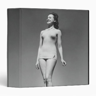 Woman in Swimsuit 3 Ring Binder