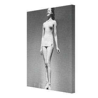 Woman in Swimsuit Canvas Print