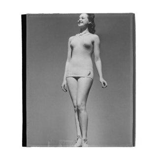 Woman in Swimsuit iPad Folio Cover