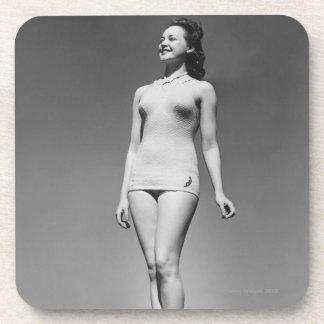 Woman in Swimsuit Drink Coasters