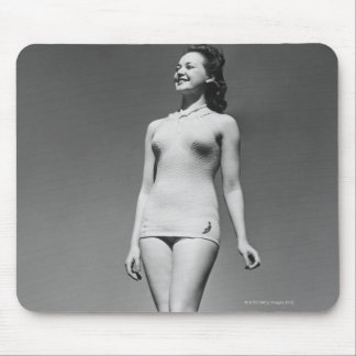Woman in Swimsuit Mouse Pad
