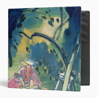 Woman in the Garden 3 Ring Binder