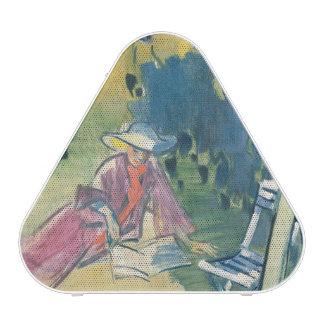 Woman in the Garden Bluetooth Speaker