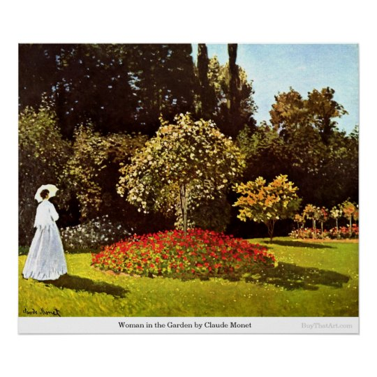 Woman in the Garden by Claude Monet Poster