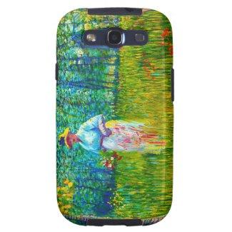 Woman in the Garden by Vincent Van Gogh Samsung Galaxy SIII Case
