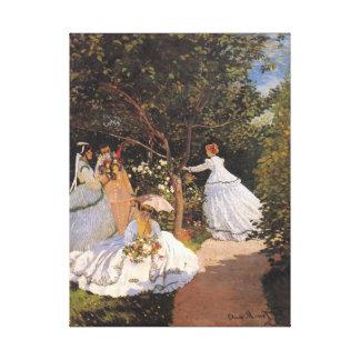 Woman in the Garden Monet Fine Art Canvas Print