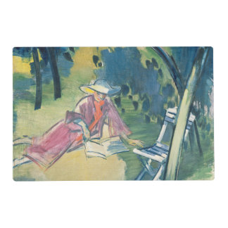 Woman in the Garden Laminated Place Mat