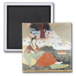 Woman in the Garden of Shah Abbas I Fridge Magnets
