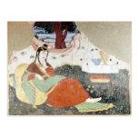 Woman in the Garden of Shah Abbas I Postcard