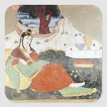 Woman in the Garden of Shah Abbas I Stickers