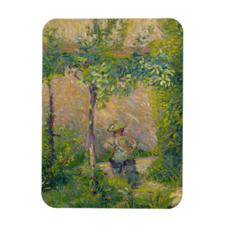 Woman in the Garden (oil on canvas) Rectangular Photo Magnet
