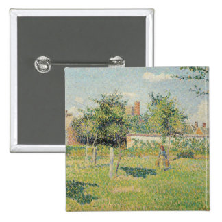 Woman in the Meadow at Eragny, Spring, 1887 Pinback Button