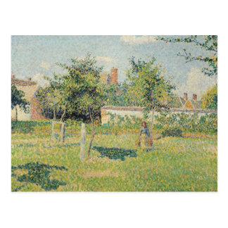 Woman in the Meadow at Eragny, Spring, 1887 Postcard
