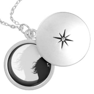 Woman in the moonlight. Woman in the light of the  Custom Necklace