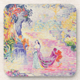 Woman in the Park, 1909 (oil on canvas) Beverage Coaster