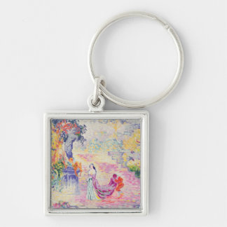 Woman in the Park, 1909 (oil on canvas) Keychain