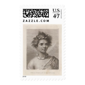 Woman in the Sandwich Islands Postage Stamp