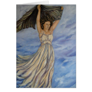 Woman in Transition Greeting Cards