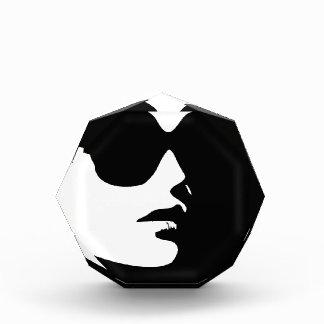 Woman in trendy eye wear award