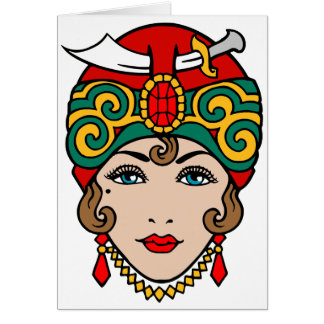 Woman in Turban Card