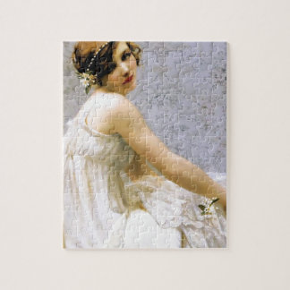 Woman in White Dress painting Puzzles
