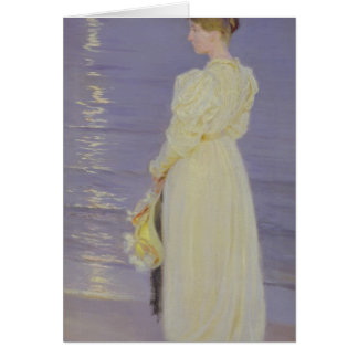 Woman in White on a Beach, 1893 Card