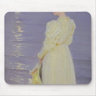 Woman in White on a Beach, 1893 Mouse Pad