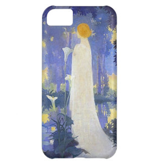 Woman in white with Calla lillies Cover For iPhone 5C
