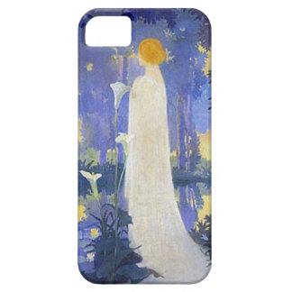 Woman in white with Calla lillies iPhone SE/5/5s Case